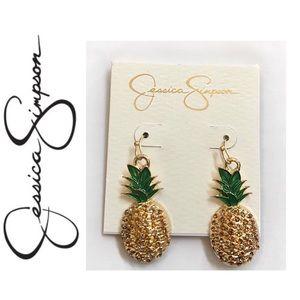 NWT. Jessica Simpson Pineapple Drop Earrings